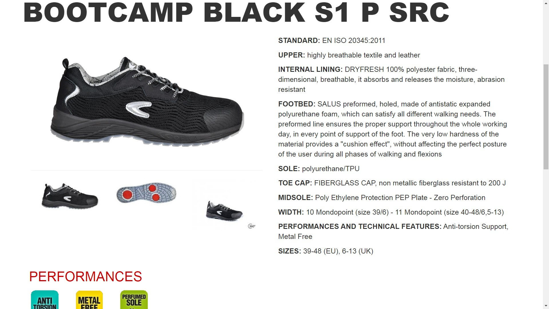 200117  ZAPATO BOOTCAMP BLACK S1 P SRC 39-48 (EU), 6-13 (UK)