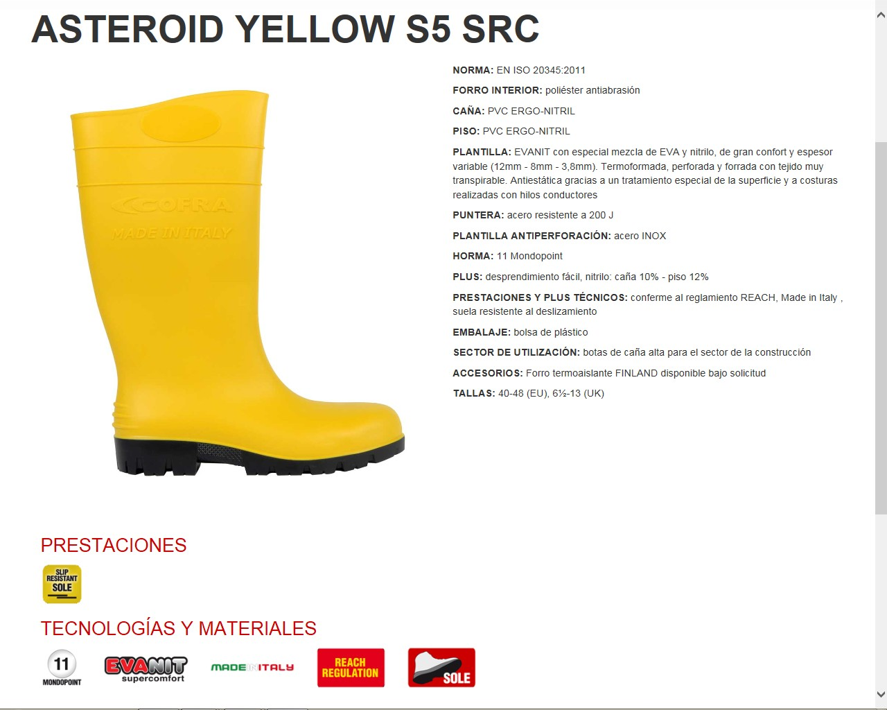 8a73d7b735f BOTA ASTEROID GREEN S5 SRC NORMA: EN ISO 20345:2011